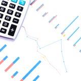 收入、赢利、统计和表现评估 库存照片