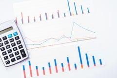 收入、赢利、统计和表现评估 图库摄影