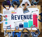 收入会计货币经济概念 免版税库存图片