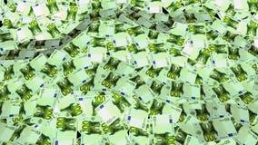 收入成长,很多欧元,增量以美元,在收入的增量 危机绘制下降的财务费率 金融市场 股票视频