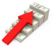 收入成长 免版税库存照片