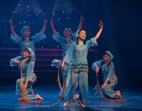 收割丰收收获渔夫的女儿中国民间舞 免版税库存照片