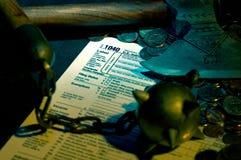 收割的税务 免版税图库摄影