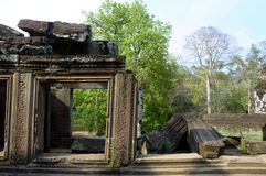 收割siem寺庙 免版税库存照片