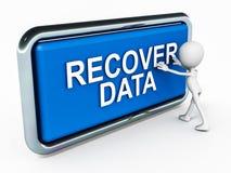 收回数据 库存例证