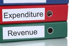 收支帐户财务在公司事务精读 库存图片