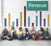收支赢利收入财务金钱现金流动概念 免版税库存图片