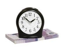 收益货币时间 库存照片