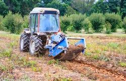 收获在农场的土豆在弗吉尼亚 免版税库存图片