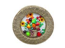 收获水果和蔬菜装饰面板 免版税库存照片