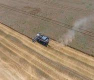 收获麦子收割机 免版税图库摄影