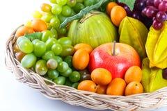 收获水多的果子,果子,菜 免版税库存图片