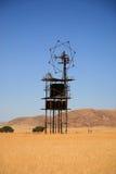收货人在沙漠 免版税图库摄影