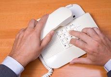 收货人电话 免版税库存图片