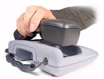 收货人电话 免版税库存照片