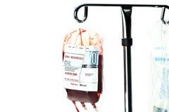 收集一次性工具箱注入的血液 库存照片