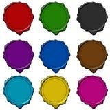 收集上色了密封蜡 向量例证