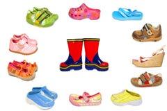 收集不同的鞋子 库存照片