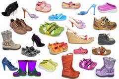 收集不同的鞋子 免版税图库摄影