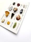 收集业余爱好矿物岩石 免版税库存图片