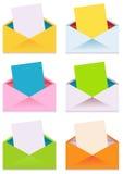收集五颜六色的信包 库存图片