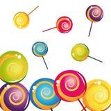收集五颜六色的可口棒棒糖 库存照片