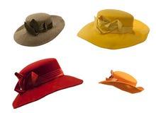 收集五颜六色的帽子 库存照片