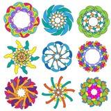 收集五颜六色的装饰品 免版税库存图片