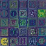 9份收集典雅的信函爱模式言情无缝的主题 免版税库存图片