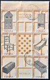 收集印花税投入西班牙工艺品 库存图片