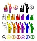 收集和平 免版税库存图片
