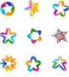 收集图标星形向量 免版税库存图片