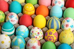 收集复活节彩蛋 库存照片
