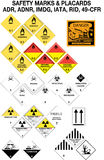 收集安全性符号警告 库存图片