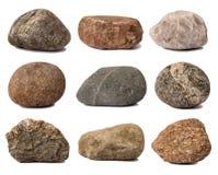 收集岩石 库存图片