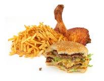 收集快餐 免版税库存图片