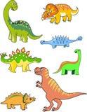 收集恐龙 免版税库存图片
