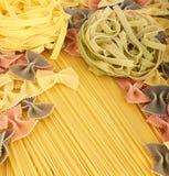 收集意大利人意大利面食 免版税图库摄影