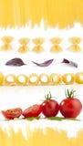 收集意大利人意大利面食 免版税库存图片
