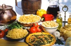 收集意大利人意大利面食 库存照片