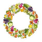 收集成熟蔬菜 免版税库存图片