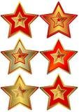 收集星形担任主角向量 向量例证