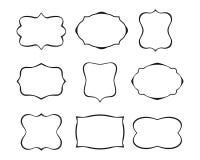收集构成葡萄酒 标签形状 也corel凹道例证向量 库存例证