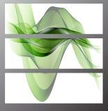 收集横幅现代通知设计,五颜六色的背景 也corel凹道例证向量 库存图片