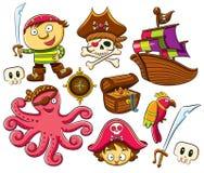 收集海盗集 库存图片