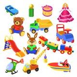 收集玩具 库存例证