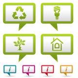 收集环境图标 库存图片