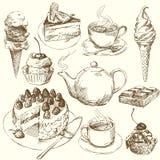 收集甜点 免版税图库摄影