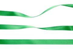 收集绿色丝带 库存图片