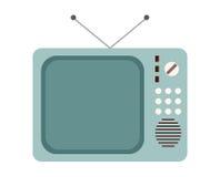 收集编辑减速火箭简单对电视向量葡萄酒 库存照片